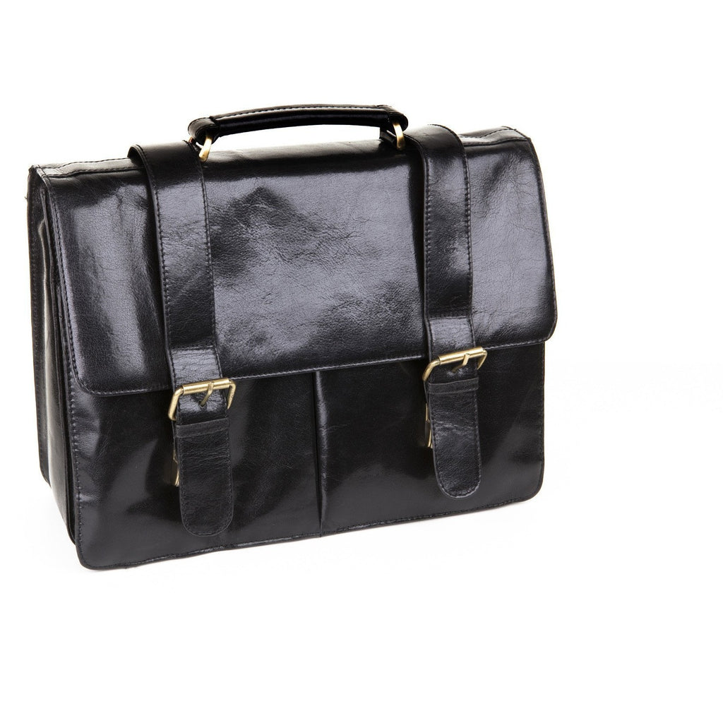 Woodland Leather Glaze Satchel Briefcase With Top Handle-Equestrian Co.