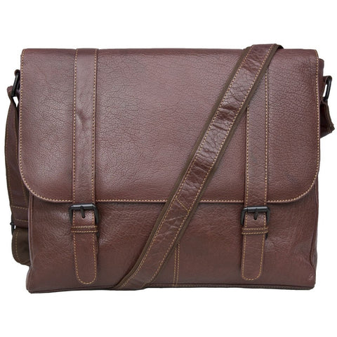 Woodland Leathers Tribal High Grade Satchel Messenger Bag