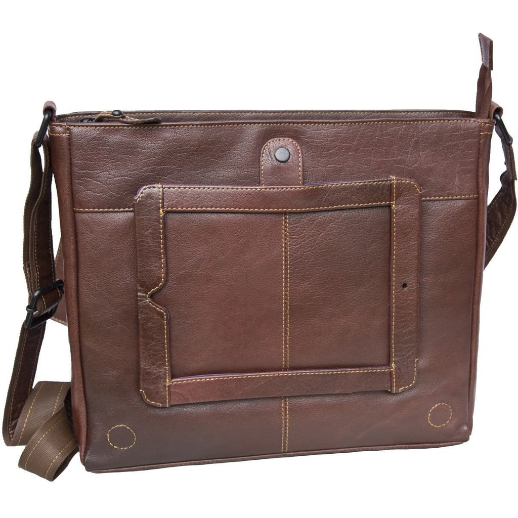 Woodland Leathers Tribal High Grade Buffalo Leather Landscape Messenger Bag - Equestrian Co. - 2