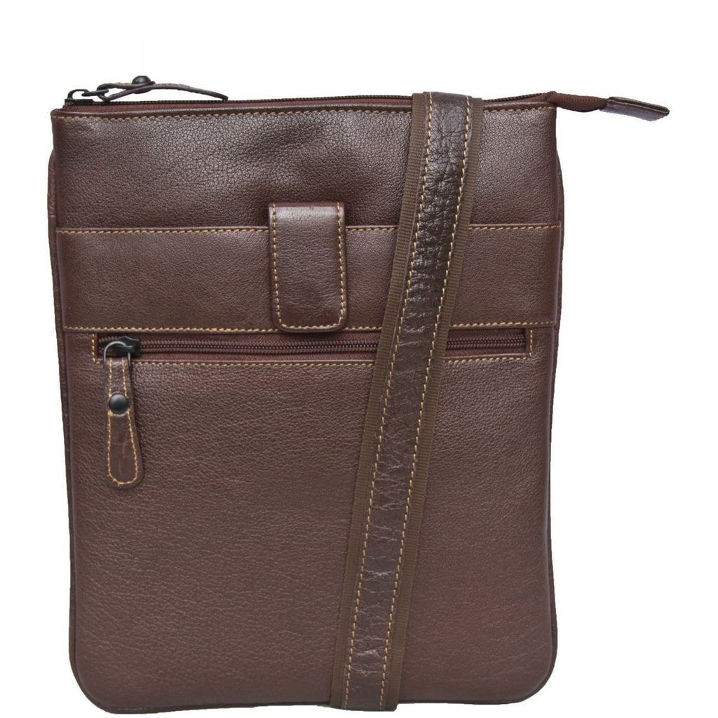 Woodland Leather Unisex Cross Body Messenger Bag-Equestrian Co.