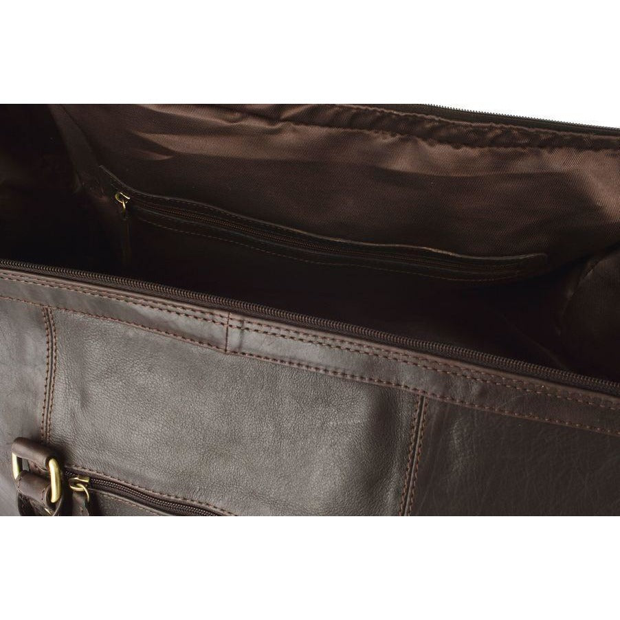 Woodland Leathers Soft Cabin Leather Holdall (Multiple Colours) - Equestrian Co. - 2