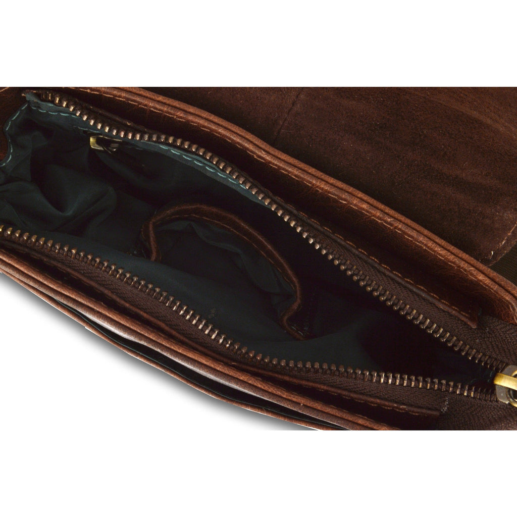 Woodland Leather Mahogany Shoulder Bag - Medium-Equestrian Co.