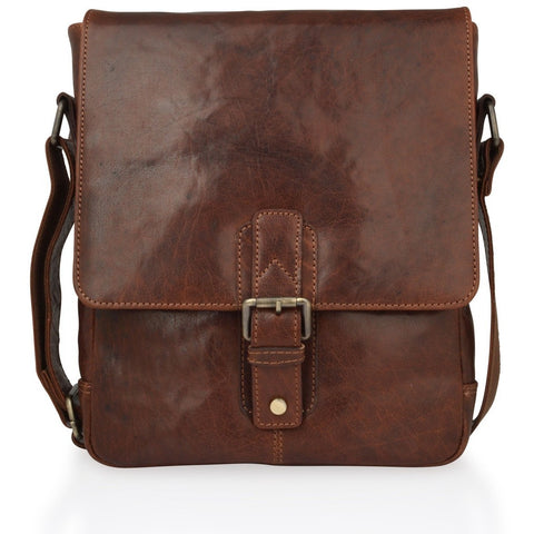 Woodland Leathers Mahogany Shoulder Bag - Large