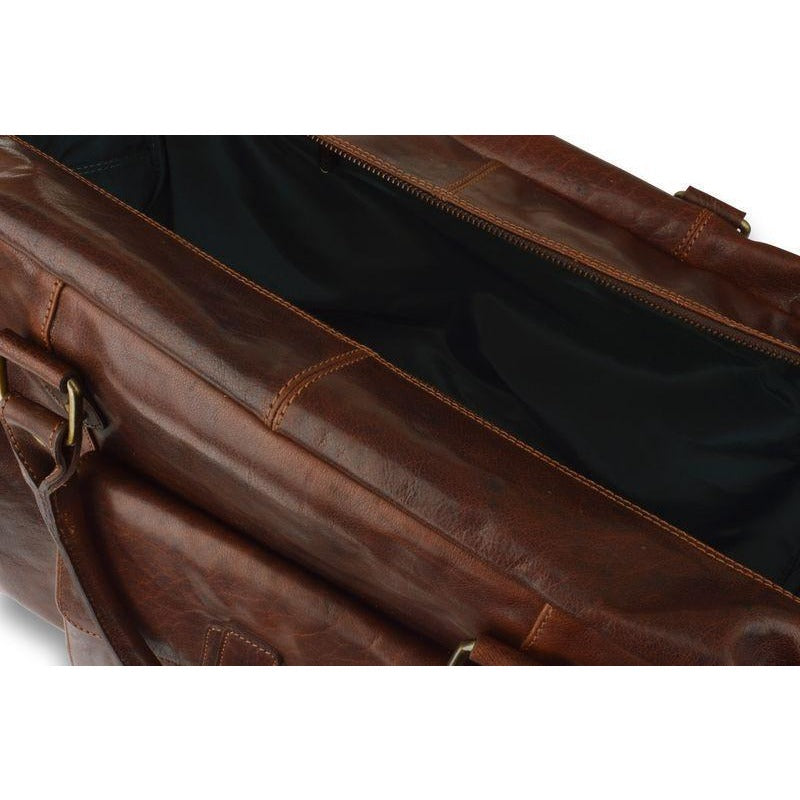 Woodland Leathers Large Mahogany Leather Holdall - Equestrian Co. - 3