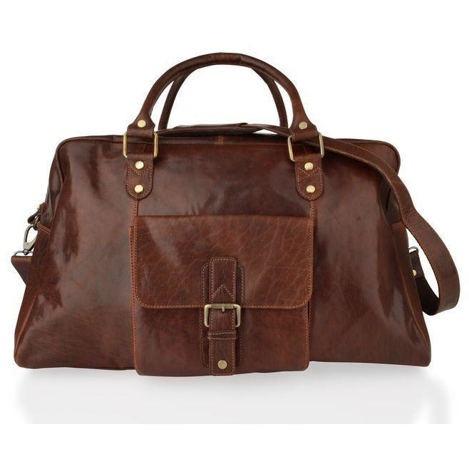 Woodland Leathers Large Mahogany Leather Holdall - Equestrian Co. - 2