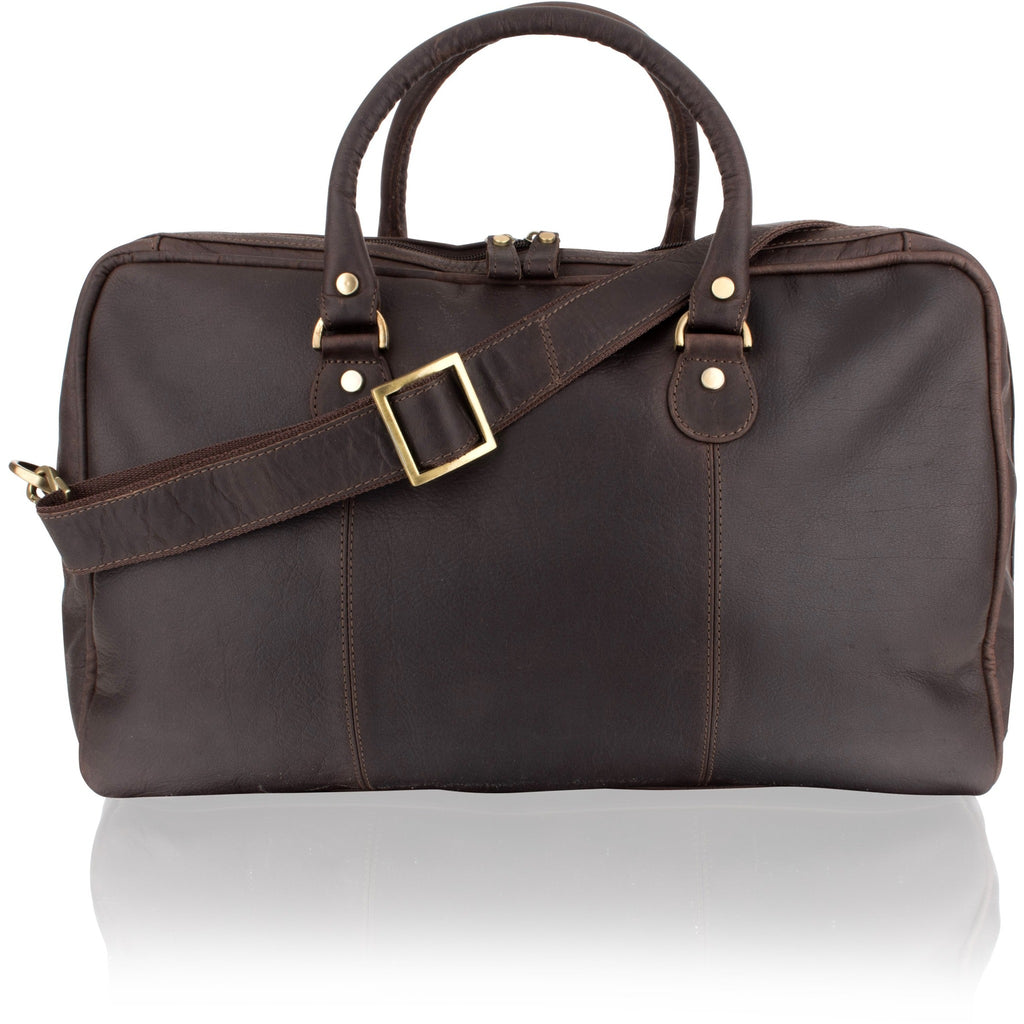 Woodland Leathers Cowhide Dark Brown Medium Holdall