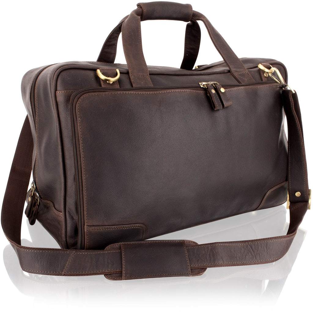 Woodland Leathers Cowhide Brown Weekend Bag / Holdall