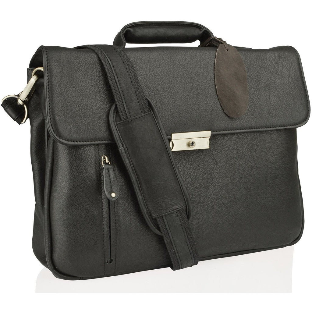 Woodland Leathers Columbian Leather Satchel Briefcase - Equestrian Co. - 1