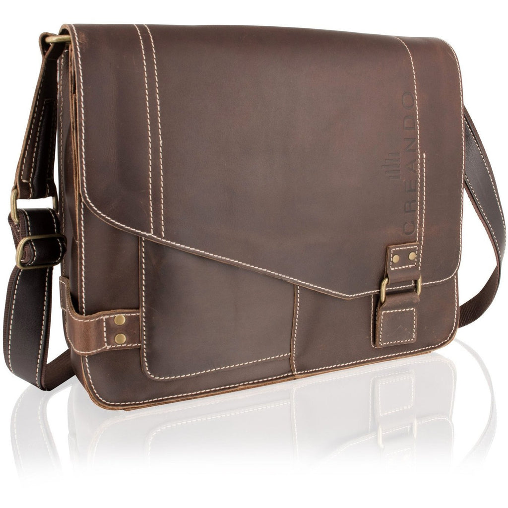 Woodland Leather Landscape Messenger Bag-Equestrian Co.