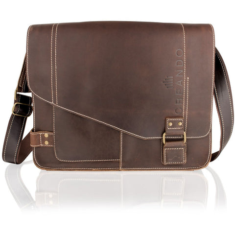 Woodland Leathers Landscape Messenger Bag