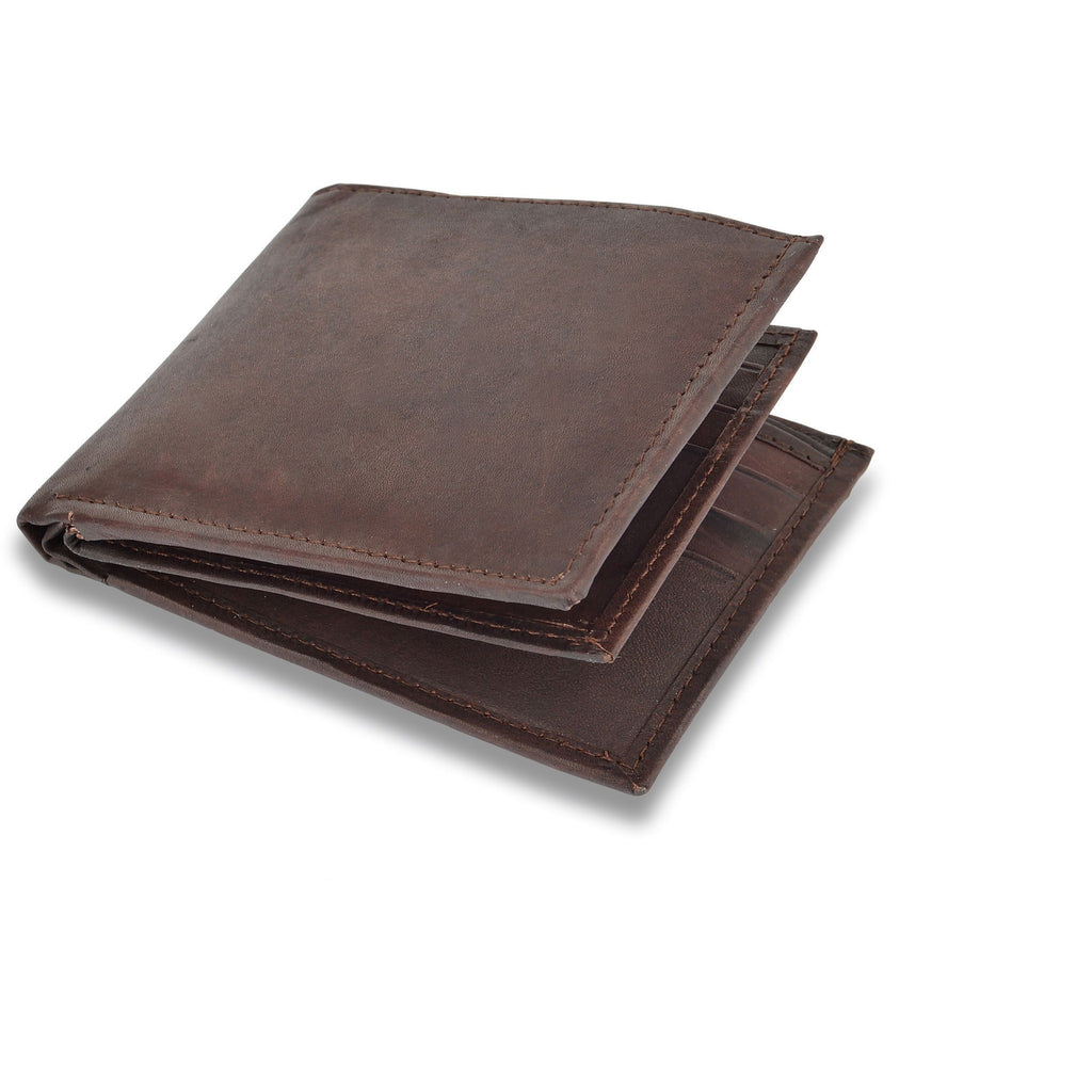 Woodland Leather Men's Bi-Fold Matt Finished Wallet-Equestrian Co.