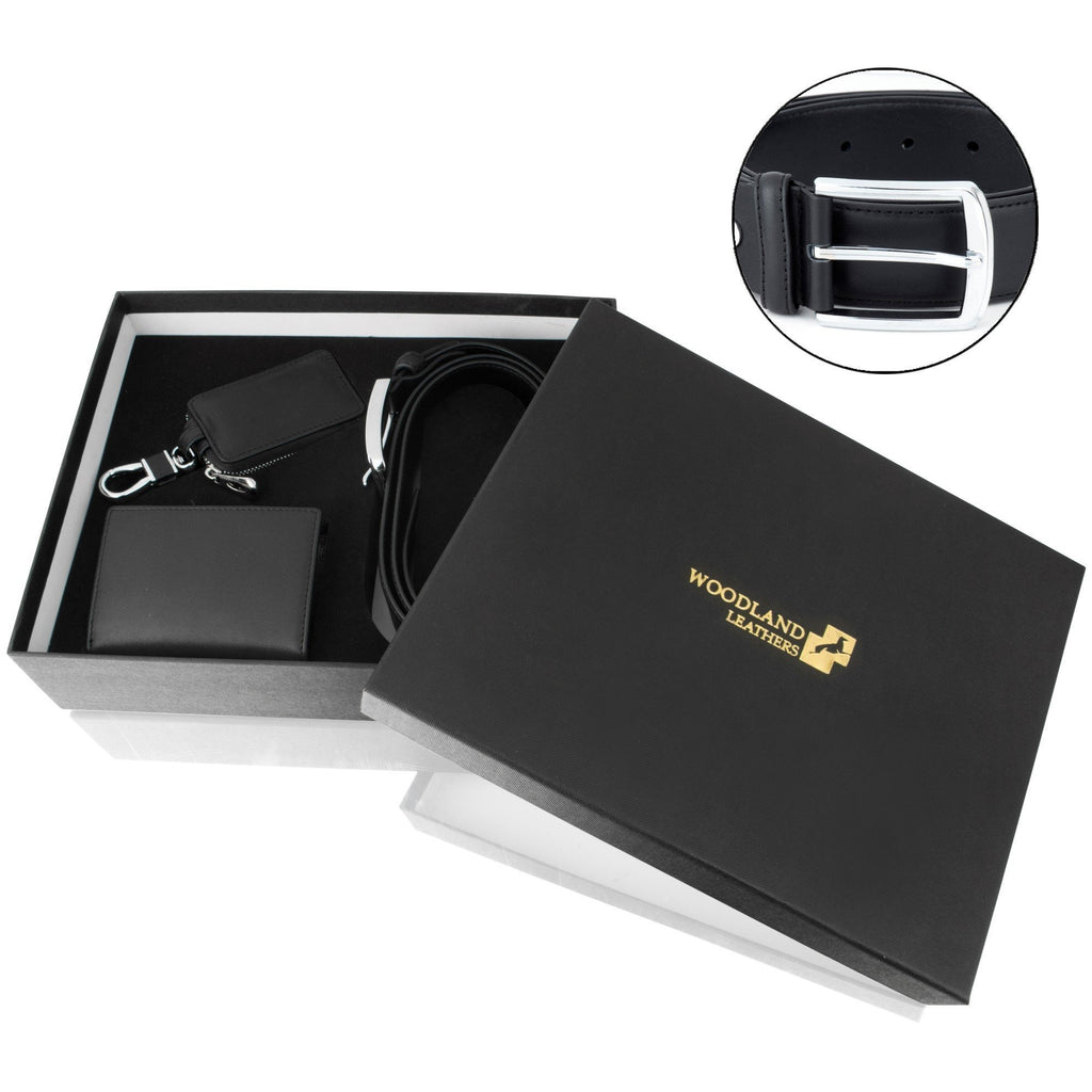 Woodland Leathers Men's Gift Set - Leather Belt & Wallet