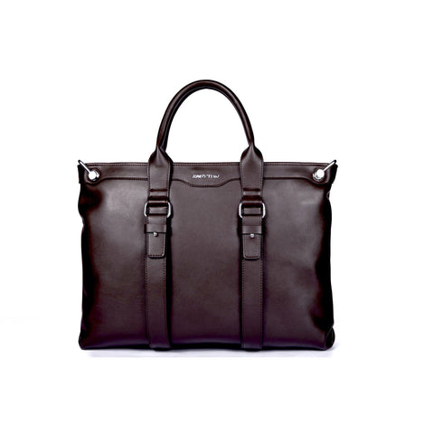 Hautton Men's Luxury Leather Satchel Bag / Briefcase