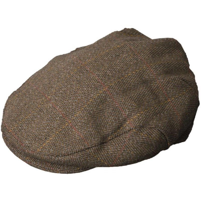 Walker & Hawkes Unisex Brown Derby Tweed Shooting / Hunting Flat Cap-Equestrian Co.