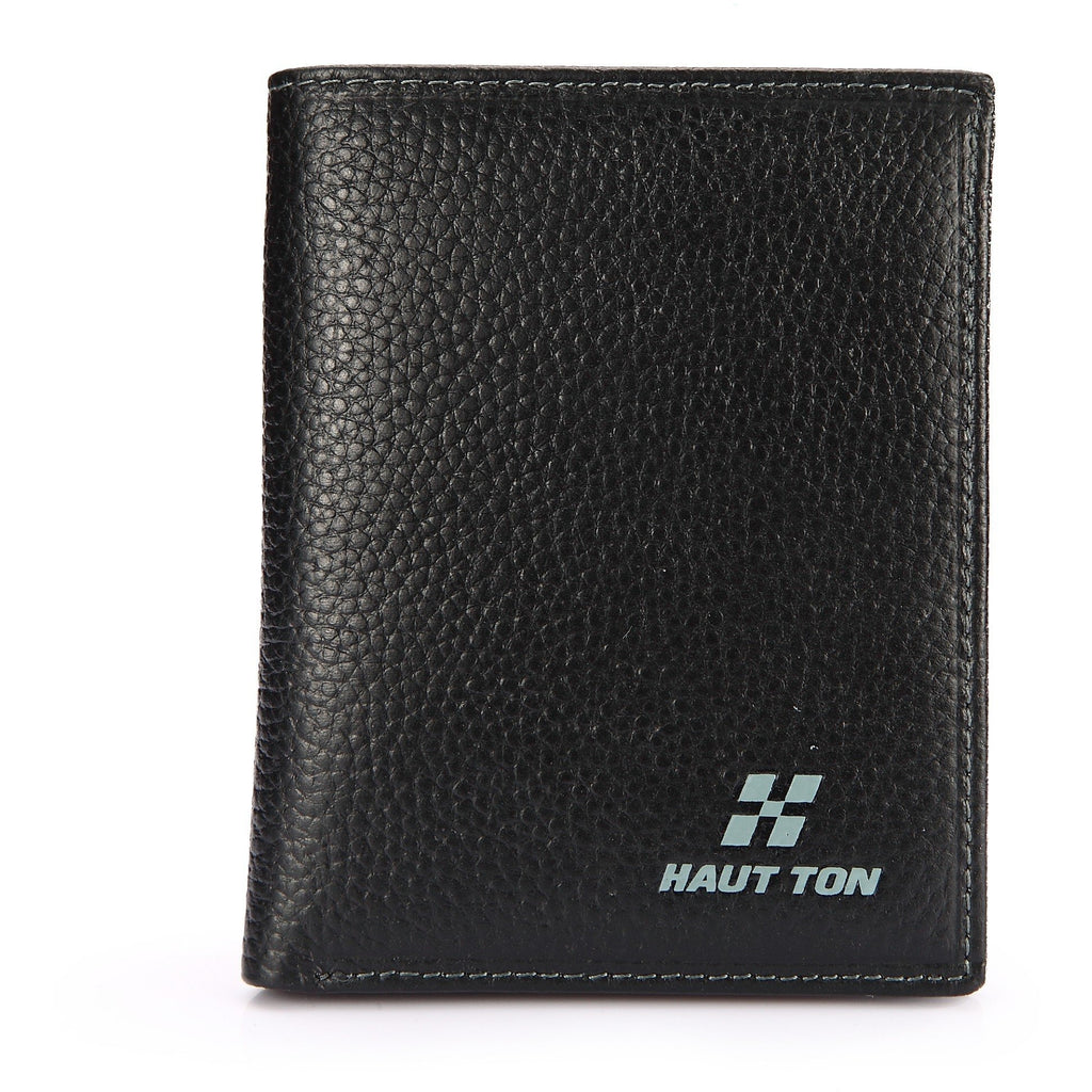 Hautton Men's Grain Leather Black Wallet-Equestrian Co.