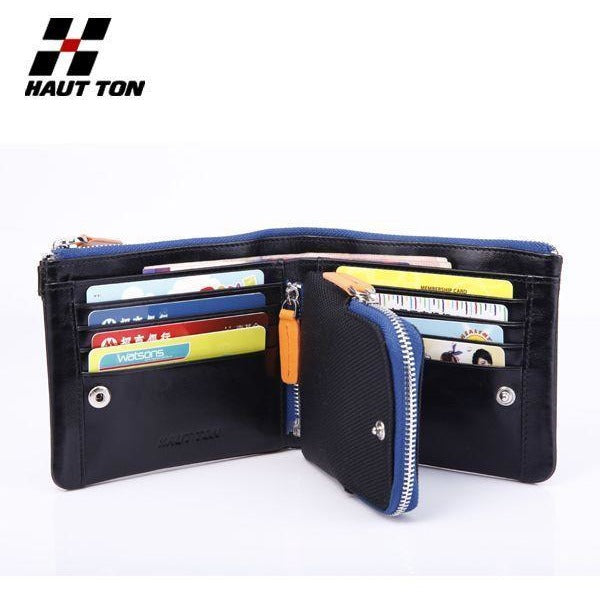 Hautton Men's Sporty Bi-Fold Leather Wallet-Equestrian Co.