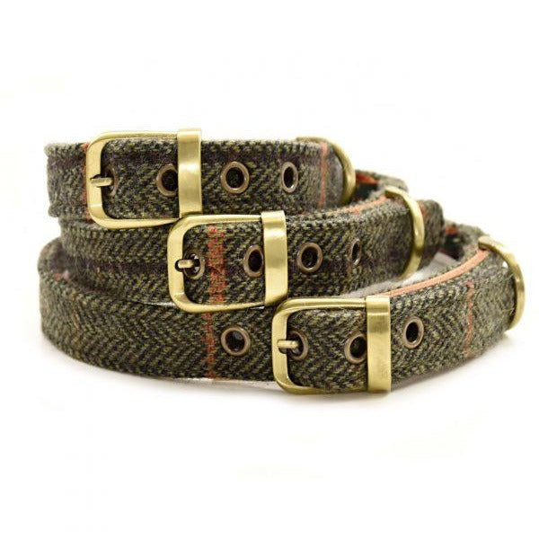 Hunt & Wilson Handmade Tweed Dog Collar