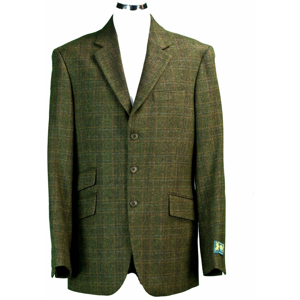 Hunter Outdoor Fern Men's Wool Tweed Patch Elbow Jacket / Blazer-Equestrian Co.
