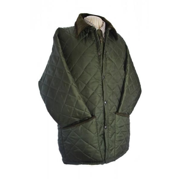 Beaver Men's Classic Quilted Olive Country Jacket / Coat-Equestrian Co.