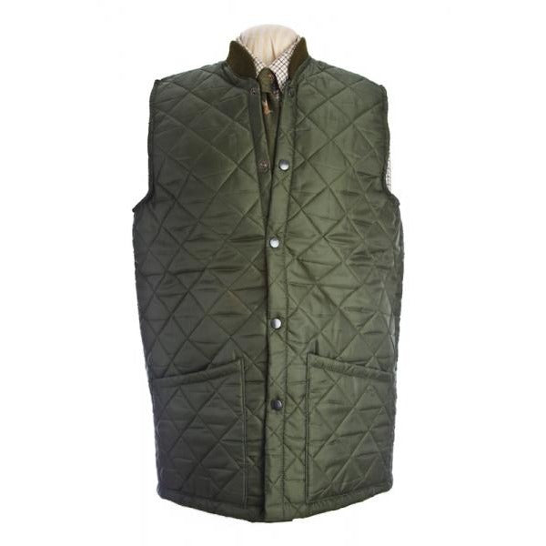 Beaver Gent's Olive Quilted Country Waistcoat / Gilet-Equestrian Co.
