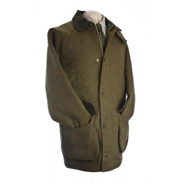 Beaver Men's Waterproof Green Tweed Shooting Coat / Jacket