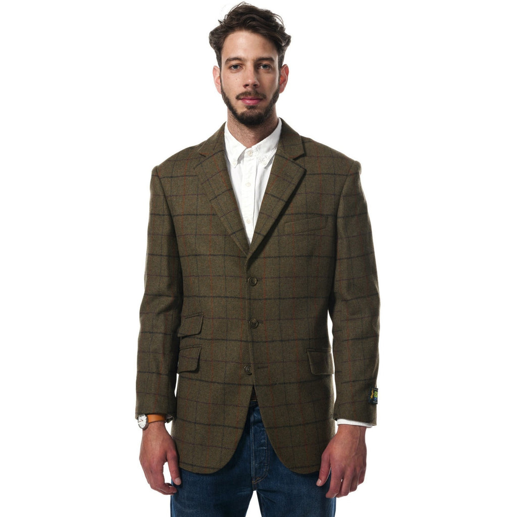 Hunter Outdoor Gorse Men's Wool Tailored Tweed Blazer-Equestrian Co.
