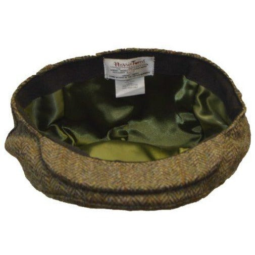 Harris Tweed Unisex Traditional Herringbone Flat Cap
