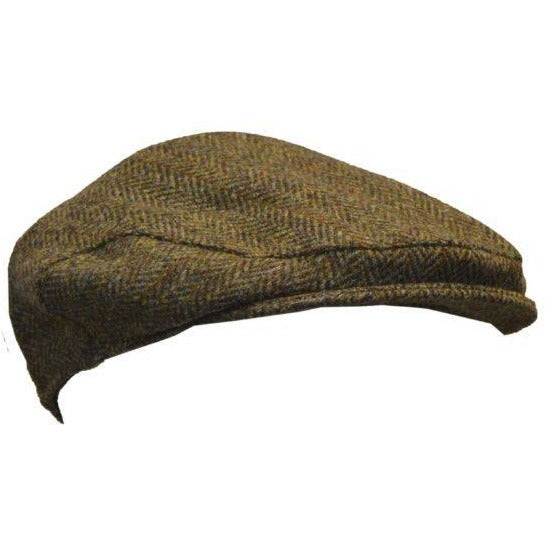 Harris Tweed Unisex Traditional Herringbone Flat Cap-Equestrian Co.