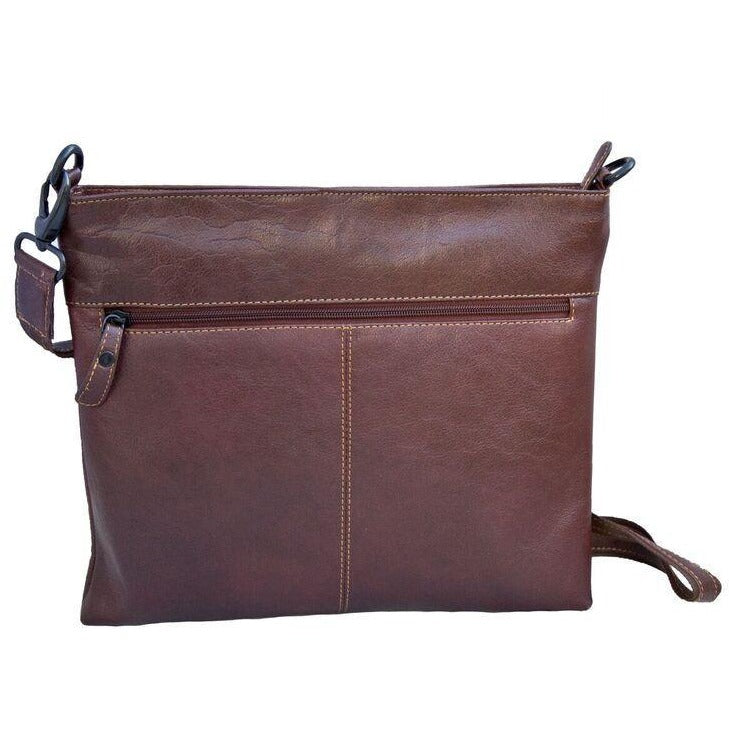Woodland Leathers Tribal Leather Cross Body Messenger Bag - Equestrian Co. - 3