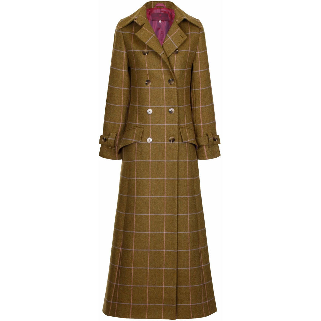 Beaver of Bolton Bespoke Ladies' Full Length Double Breasted Tweed Coat-Equestrian Co.