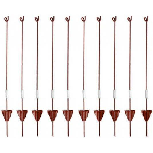 Hotline PL32 Powder Coated Steel Live Pigtail Posts (Bulk)-Equestrian Co.