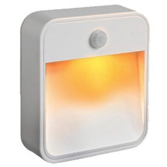 Mr Beams Amber / White Battery-Powered LED Sleep Nightlight
