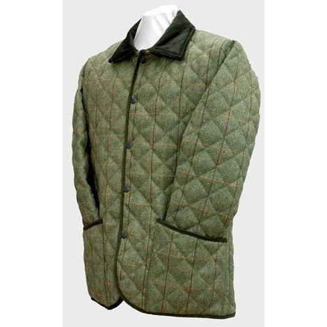 Beaver Men's Green Quilted Country Tweed Coat / Jacket-Equestrian Co.