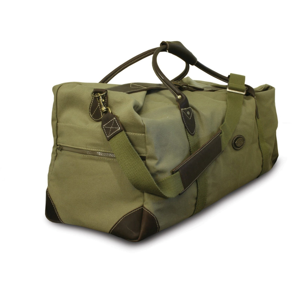 Rogue Canvas Travel Bag / Holdall - Sand / Olive-Equestrian Co.