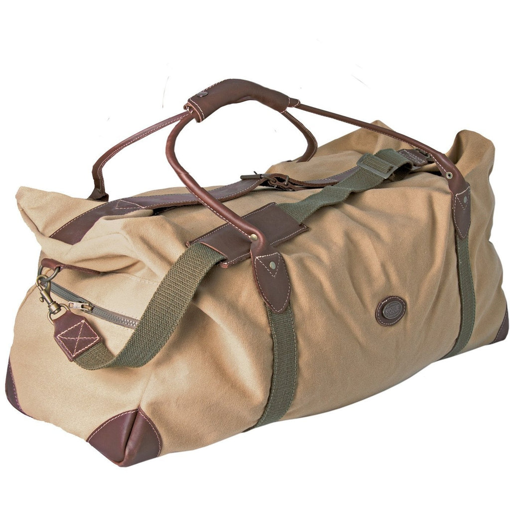 Rogue Canvas Travel Bag / Holdall - Sand / Olive - Equestrian Co. - 1