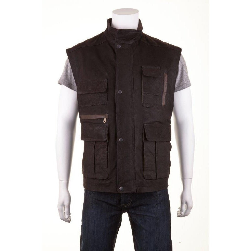 Woodland Leather Men's Wax Shooting Waistcoat / Gilet-Equestrian Co.