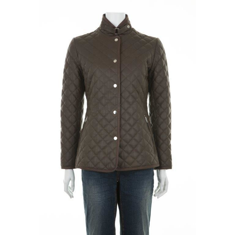 Woodland Leather Ladies' Luxury Quilted Country Jacket-Equestrian Co.