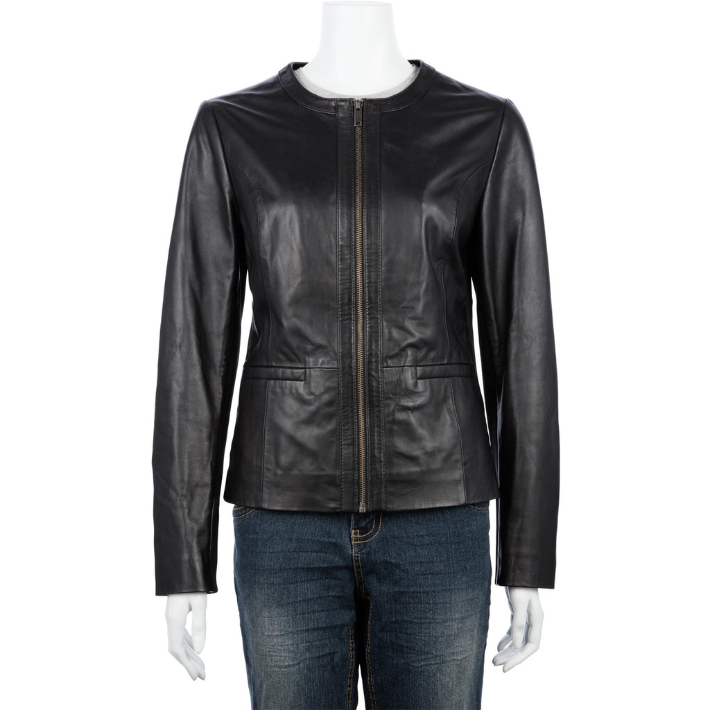 Woodland Leather Ladies' Summer Leather Jacket-Equestrian Co.