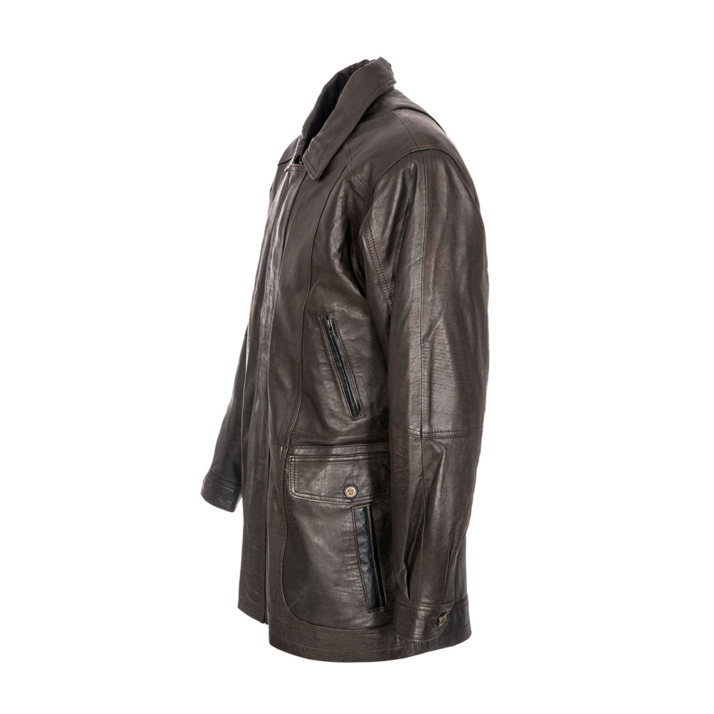 Woodland Leather Men's Classic Leather Parka
