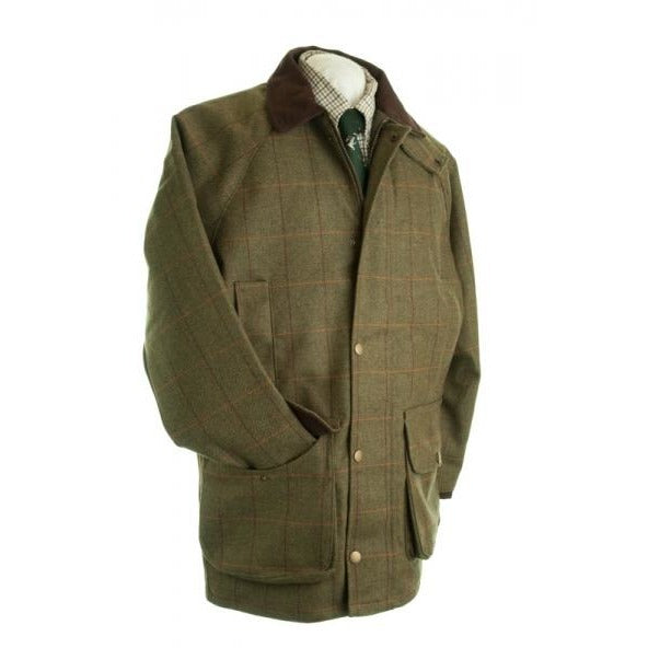 Beaver Men's Green Checked Tweed Shooting Country Coat-Equestrian Co.