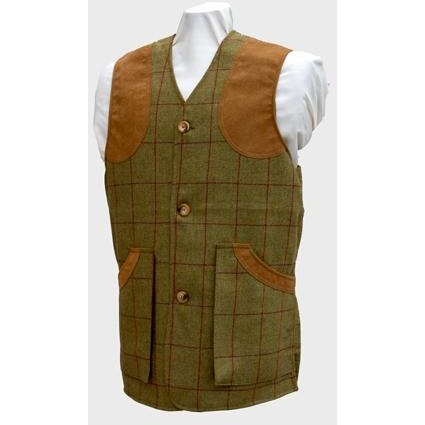 Beaver Men's Tweed Shooting Waistcoat with Suede Patches-Equestrian Co.