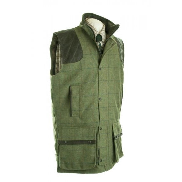 Beaver Scottish Green Tweed Shooting Waistcoat / Gilet-Equestrian Co.