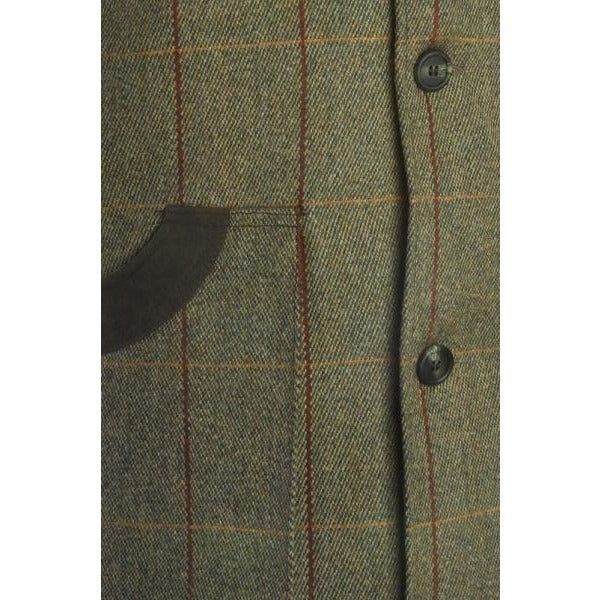 Beaver Men's Tweed Shooting Waistcoat with Cartridge Pockets-Equestrian Co.