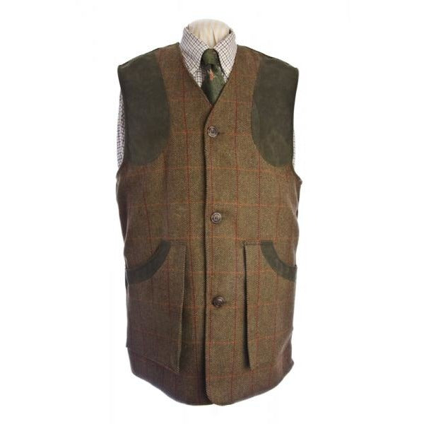 Beaver Men's Brown Tweed Shooting Waistcoat / Gilet / Vest-Equestrian Co.