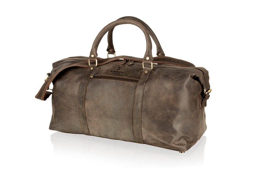 Woodland Leather Unisex Crackle Buffalo Leather Holdall