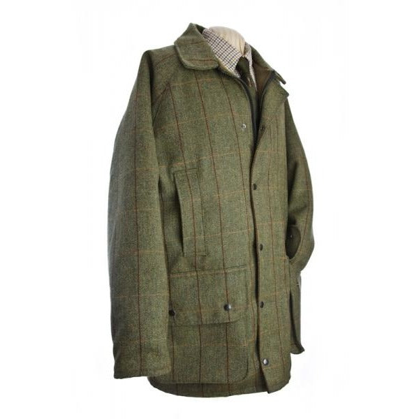 Beaver Men's Waterproof Green Tweed Country Coat