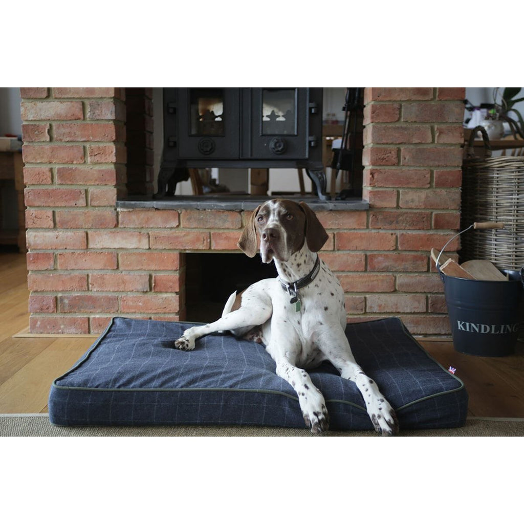 Hunt & Wilson Tweed Luxury Memory Foam Dog Bed / Mattress-Equestrian Co.