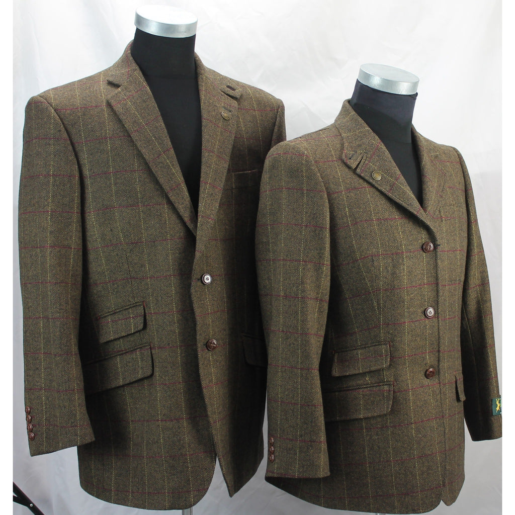 Hunter Outdoor Men's Bark Classic Tweed Tailored Blazer