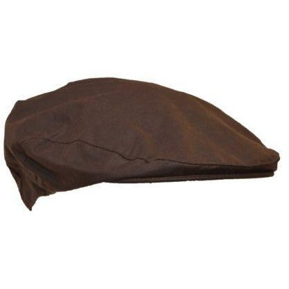 Walker & Hawkes Unisex Waterproof Brown Waxed Cotton Flat Cap-Equestrian Co.