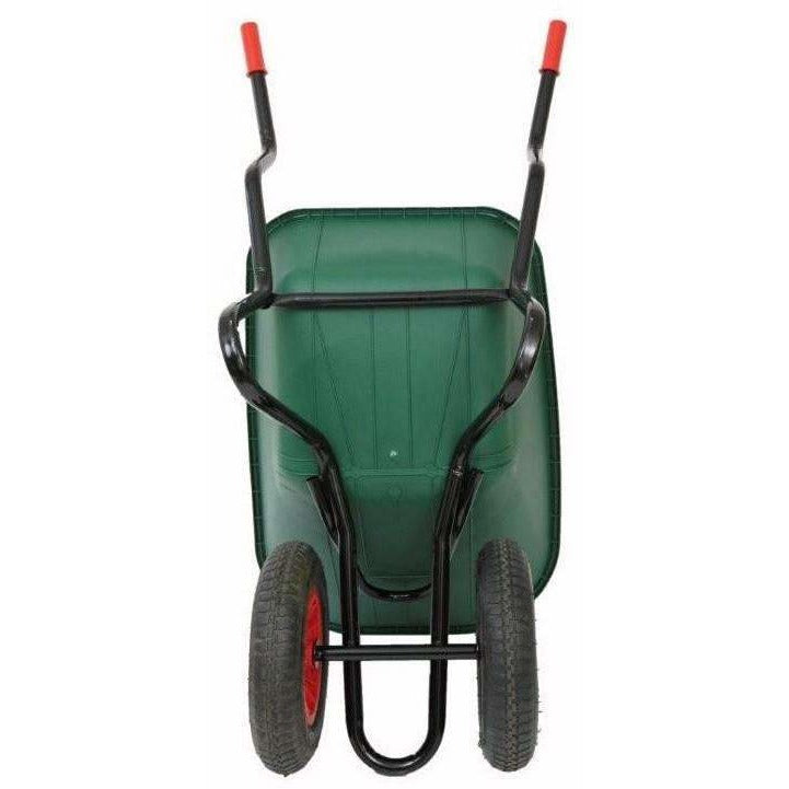 Bullbarrow Bronco Duo Heavy Duty 110 Litre Two Wheeled Wheelbarrow-Equestrian Co.